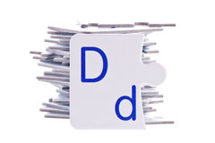 Puzzle alphabet and Letter D Royalty Free Stock Photos