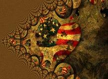 Puzzle américain de coeur illustration stock