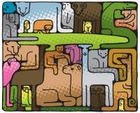 Puzzle animal (illustration) illustration libre de droits