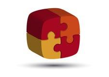 Puzzle arancione Immagine Stock