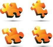 Puzzle arancione di vettore 3D Fotografia Stock Libera da Diritti