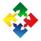 Puzzle arrow Royalty Free Stock Photo