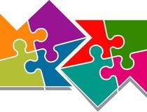 Puzzle arrow Stock Photo