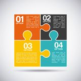 Puzzle assembling design Royalty Free Stock Photo