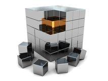 Puzzle astratto del cubo Immagine Stock