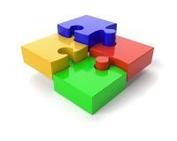 Puzzle auf Weiß Stockfoto