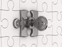 Puzzle avec la clé Photos stock