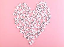 Puzzle avec la forme de coeur Images libres de droits