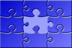 Puzzle avec la partie manquante Image libre de droits