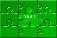 Puzzle avec la partie manquante Image stock