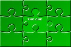 Puzzle avec la partie manquante Photographie stock