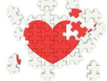 Puzzle avec le coeur Photo stock