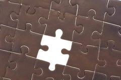 Puzzle avec les disparus d'une seule pièce Photo libre de droits