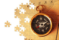 Puzzle avec les parties manquantes Photos libres de droits