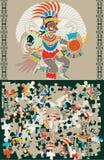 Puzzle azteco, fette e la decisione Fotografie Stock Libere da Diritti