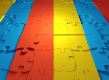 Puzzle Back. A puzzle mate background 3d Stock Images