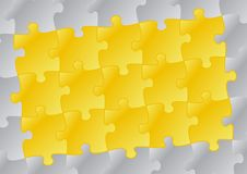 Puzzle Background 01. Vector background illustration with colored puzzle pattern Stock Photo