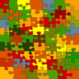 Puzzle background. Illustration, abstract art Royalty Free Stock Photo