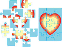 Puzzle background. Puzzle pieces background. Vector illustration Stock Photo