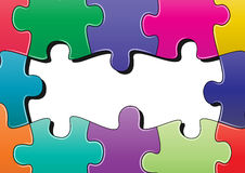 Puzzle background Stock Photography