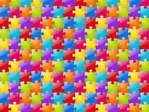 Puzzle background. Color glossy puzzle background (horizontal Stock Images