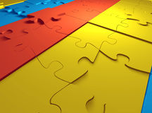 Puzzle Background. A puzzle background 3D model Royalty Free Stock Photo