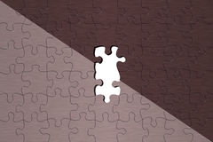 Puzzle background. Metal puzzle background with missing pieces Royalty Free Stock Images