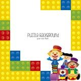 Puzzle background Stock Photos