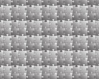 Puzzle background, black and white Stock Image