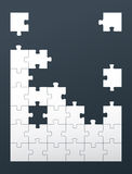 Puzzle background with copy space Royalty Free Stock Photography