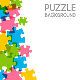 Puzzle background with copy space Stock Photos