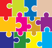 Puzzle background, elements for design, vector Stock Image