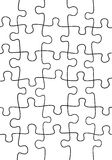 Puzzle background illustration Royalty Free Stock Image