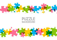 Puzzle background with place for Your text 5 Royalty Free Stock Image