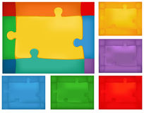 Puzzle background set Stock Photo