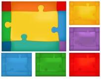 Puzzle background set Stock Photo