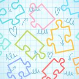 Puzzle background. vector puzzle illustration Royalty Free Stock Image