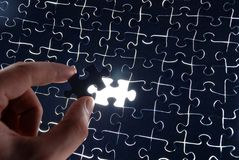 Puzzle Background With One Missing Piece Royalty Free Stock Photos