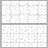 Puzzle backgrounds. Illustration of puzzles with 50 pieces Stock Photography
