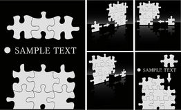 Puzzle backgrounds Royalty Free Stock Image