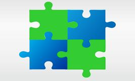 Puzzle backround. Blue and green  puzzle backround Stock Photos
