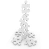 Puzzle balance Stock Photos