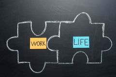 The puzzle of the balance of working life.  royalty free stock photography