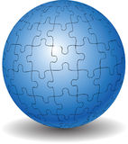 Puzzle ball Stock Image