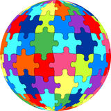 Puzzle ball Stock Photo