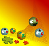 Puzzle balls Royalty Free Stock Images