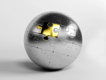 Puzzle Balls. 3d Puzzle Balls concept game Royalty Free Stock Photo