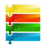 Puzzle banner set Stock Photography