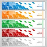 Puzzle banners Stock Photography