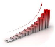 Puzzle bar chart diagram Stock Photos